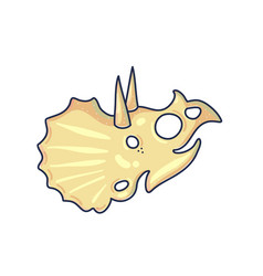 dinosaur skull color vector image