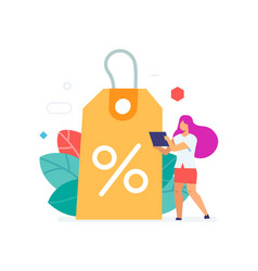 Discount benefit flat icons vector