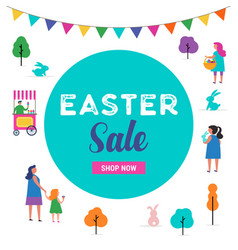 easter sale template vector image