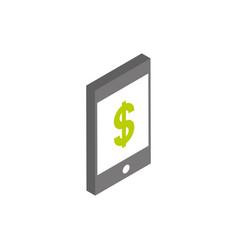 ecommerce business internet smartphone money icon vector image
