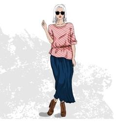Fashion look color vector