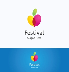 Festival logo vector