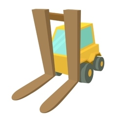Forklift icon cartoon style vector