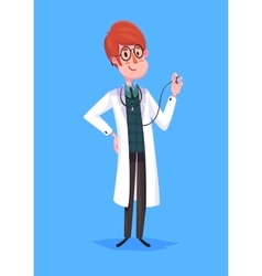 Funny doctor character Isolated vector