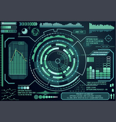Futuristic virtual graphic touch user interface vector