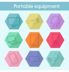 Gadget modern flat icon vector image