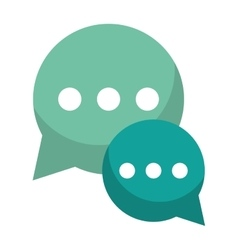 green bubble talk dialog chatting social media vector image