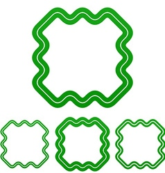 Green line technology logo design set vector