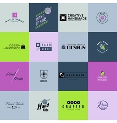 Handmade badges logos and labels for any use vector