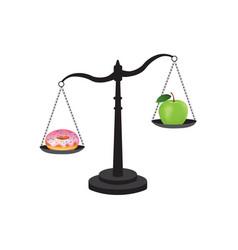 healthy versus unhealthy food vector image