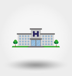 hospital building icon flat vector image