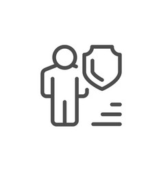 human insurance line icon vector image