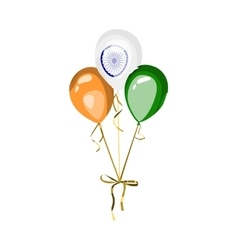 Indian national holiday element balloons vector image