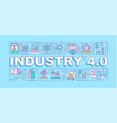 Industry 40 word concepts banner vector