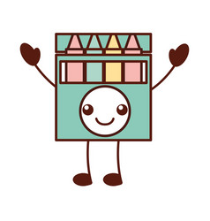 Kawaii crayon box graphic design creative cartoon vector