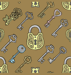 key vintage old sketch retro lock vector image