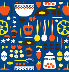 Kitchen seamless pattern decorative design vector