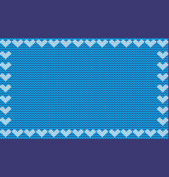 light blue fabric knitted background framed with vector image