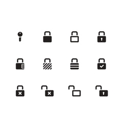 locks icons on white background vector image