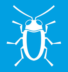 Longhorn beetle grammoptera icon white vector