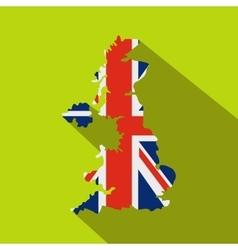 map uk national flag icon flat style vector image