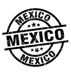 mexico black round grunge stamp vector image