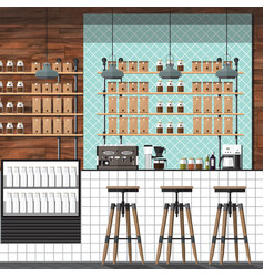 Modern coffee shop vector