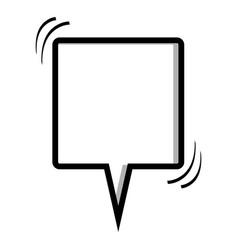 Monochrome silhouette square shape dialog box vector