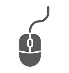 mouse glyph icon office and work computer vector image