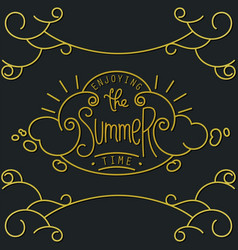 Old-fashion lineart composition and lettering vector