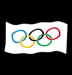Olympic style flag vector