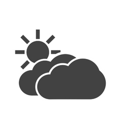 Partly Cloudy vector image