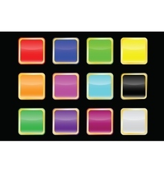 Popular color buttons vector