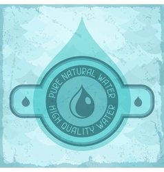Pure natural water background in retro style vector