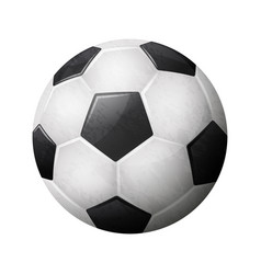 Realistic soccer ball on white background eps 10 vector