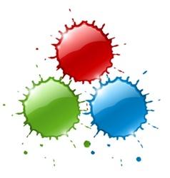 red ink blob splashes vector image