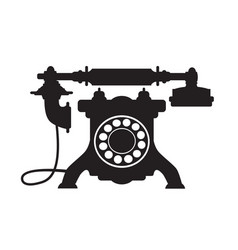 retro phone vintage old technique vector image