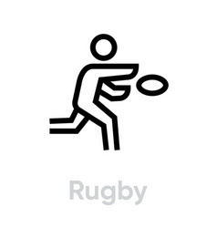 rugsport icons vector image