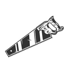 Saw with wooden handle vector