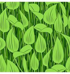 seamless grass bog leaf background vector image