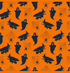 seamless pattern background with halloween vector image
