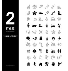 simple line icons traumatology vector image