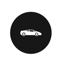 sports car icon simple car sign vector image