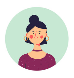 Stylish teenage girl in modern outfit portrait vector