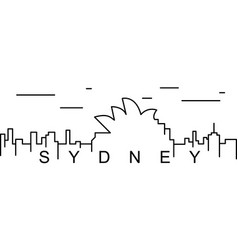 sydney outline icon can be used for web logo vector image