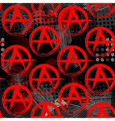 Symbols of anarchy punk pattern vector image