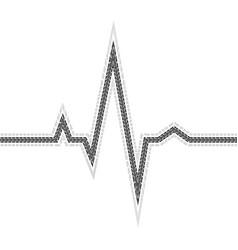 Tire track pulse vector