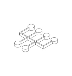 Transmission icon isometric 3d style vector