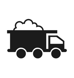 truck vehicle mining industry icon vector image