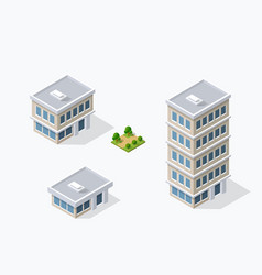 Urban buildings and construction vector